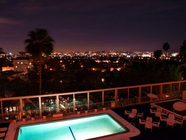 Schöne Aussicht auf LA