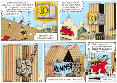 Klicken zum Vergrößern: Don Rosa, Attack of the Hideous Space Varmints / Reisende durch die Ewigkeit. In: Onkel Dagobert, Bd. 20. Stuttgart: Ehapa, 1999. (Erst-VÖ 1997)