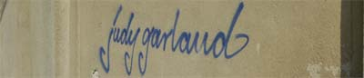 an jeder Ecke in Schwerin: Judy Garland