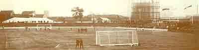 Die Glückaufkampfbahn bei ihrer Einweihung im Jahr 1928