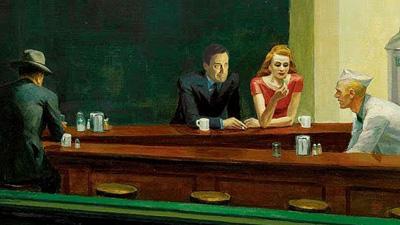 Sad Don Draper at the Diner (Detail)