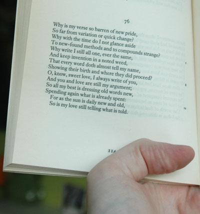 William Shakespeare, Sonnet 76