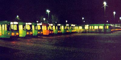Das üstra-Straßenbahn-Depot Glocksee in Hannover
