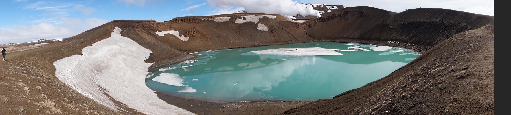 Krater Víti der Krafla