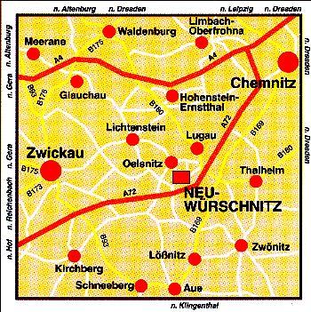 das more brass Hauptquartier: Neuwürschnitz in Sachsen, zwischen Chemnitz und Zwickau