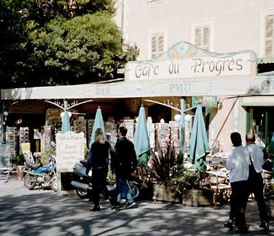 cafe du progres, bormes les mimosas
