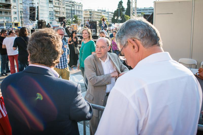 Gregor Gysi in Athen