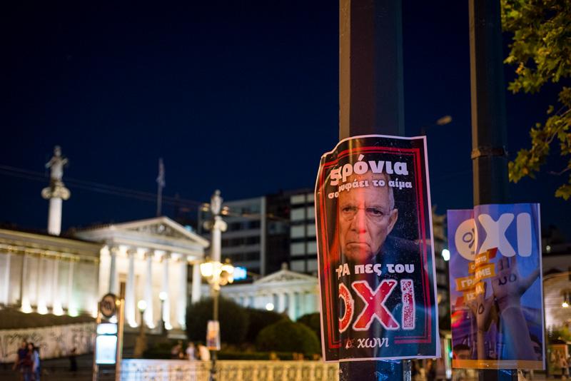 Anti-Schäuble-Plakat OXI-Anhänger
