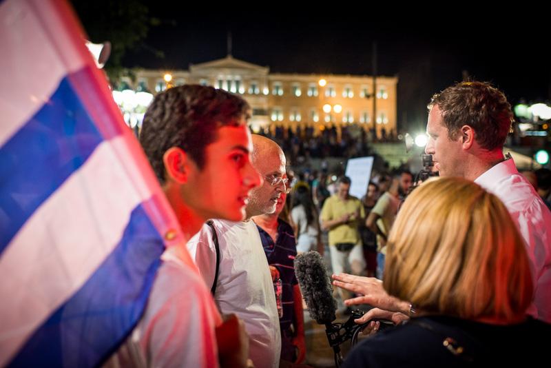 Reporter am Syntagma