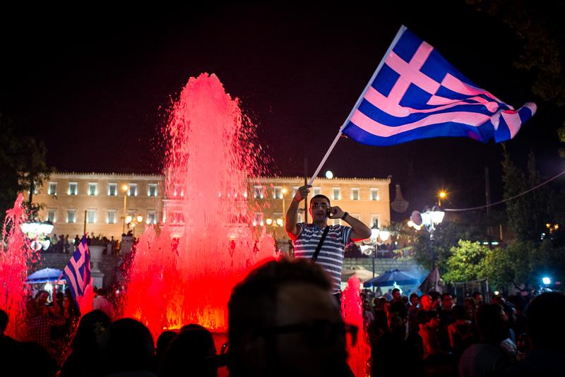 Kundgebung am Syntagma-Platz