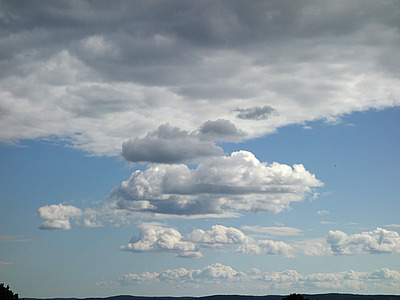 the sky over the oslo fjord, Saturday afternoon