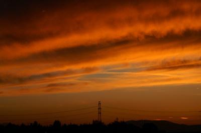 Sunset on Nov, 1, Lower Austria.