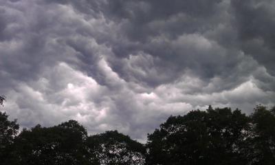 Cumulonimbus clouds forming over North Attleboro, MA USA