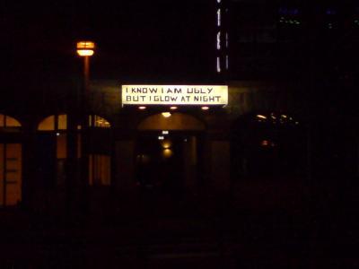 Illuminated sign found in Berlin, Warschauer Str.