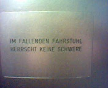 Fahrstuhl im Lentos-Museum in Linz