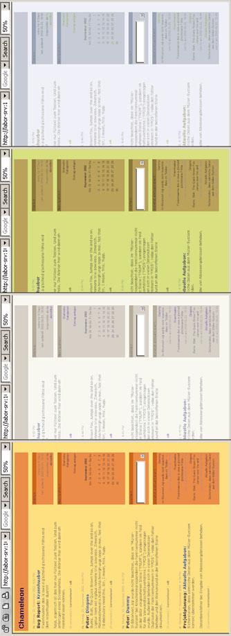 four different colour schemes