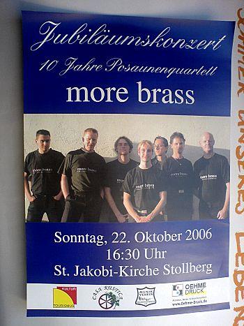 10 Jahre more brass: 22. Oktober 2006 St. Jakobi Stollberg