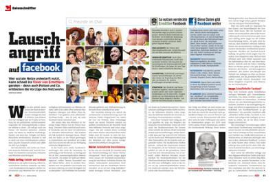 """CHIP 09/2011 """"Lauschangriff auf Facebook""""; 2 von 3 Seiten."""