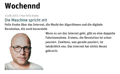 Felix Knoke Neues Deutschland