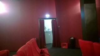 """Inside an old Berlin cinema called """"Cinema"""", before film begin"""