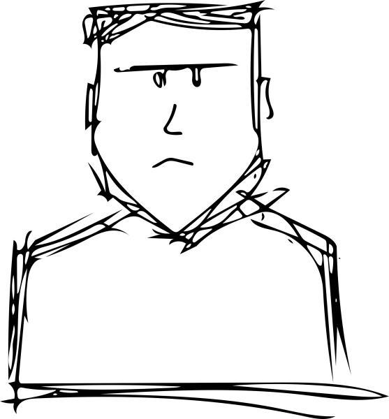 ich selbst, gekugelschreibert auf papier, vektorisiert am wischtelefon