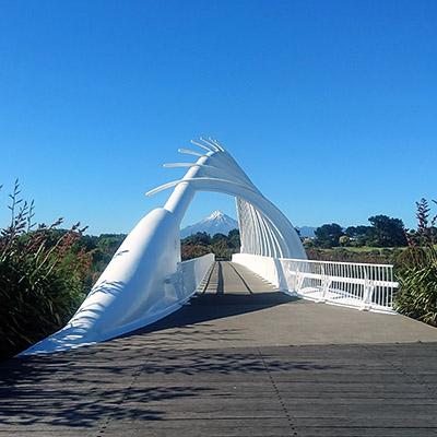Te Rewa Rewa Bridge - New Plymouth - New Zealand - 16 December 2018 - 8:49