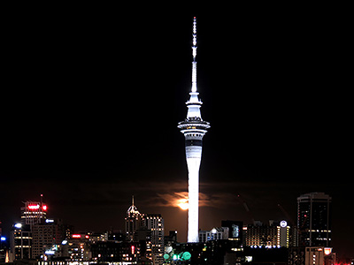 Skytower - Auckland - New Zealand - 9 April 2020 - 20:30