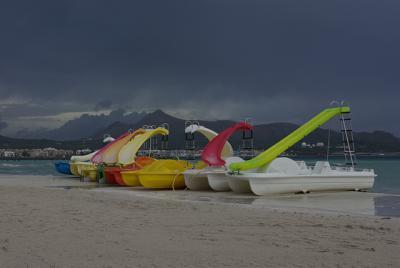 Am Strand von Malle (kurz vor Toreschluß in Alcudia)