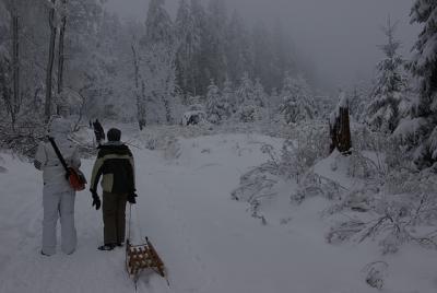 Im Deister und im Schnee, vor dem Rodeln und vor der Currywurst am Annaturm