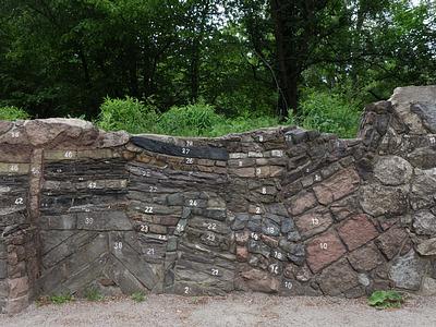 Geologische Wand, Botanischer Volkspark Blankenfelde-Pankow
