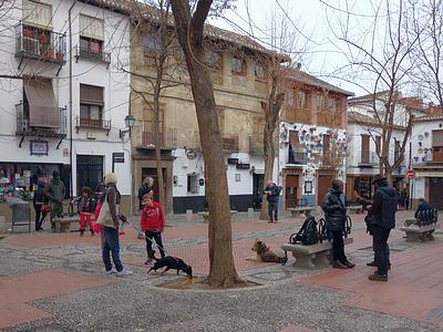 plaza larga, albaicín