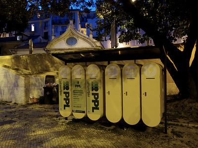 cacifos solidários (schliessfächer für obdachlose)