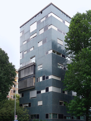 Luigi Caccia Dominioni: Condominio via Nievo 28, 1957