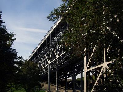 schiffshebewerk niederfinow, kanalbrücke