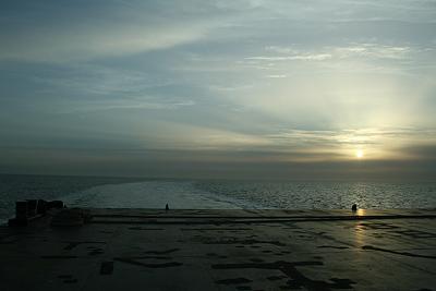 Zwei Stunden vor cuxhaven