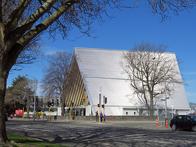 Cardboard Cathedral - Hereford Street - Christchurch - New Zealand - 30 September 2016 - 15:15