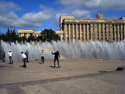 Skater am Moskovskaya Ploschtschad'