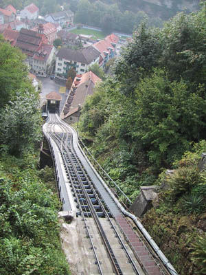 fribourg 28.09.03 - funiculaire