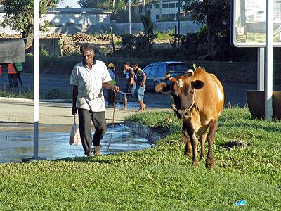 Mobil Petrol Station - Nadi Back Road - Fiji Islands - 8 June 2011 - 7:52