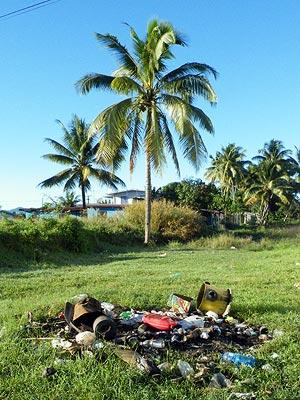 Müllverbrennungsanlage - Mobil Petrol Station - Back Road - Nadi - Fiji Islands - 8 June 2011 - 7:52