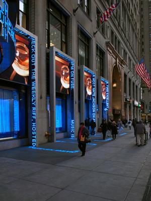 blaues Leuchten in NYC