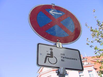 Behindertenparkverbot