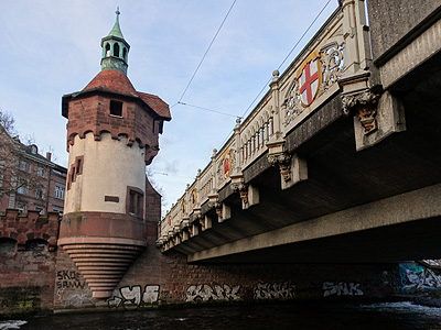 Schabentorbrücke - Freiburg - 8 January 2014 - 16:37