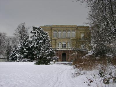 villa berg im schnee