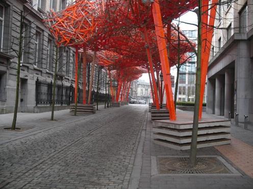 Belgien-Urlaub: Holzstruktur.