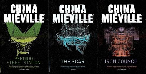 Die neuen Taschenbuch-Cover von Panmacmillan für die Bas-Lag-Romane von China Miéville.