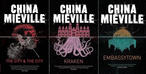 Die neuen Taschenbuch-Cover von Panmacmillan für die Bücher China Miéville.