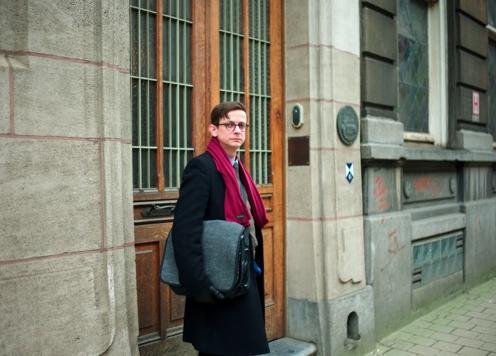 Belgien-Urlaub: Molo vor dem Maison Autrique.