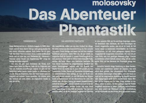 »AndroZine«: »Das Abenteuer Phantastik«