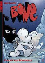 COVER: »Bone«, Band 1 (von 9) gebunden & koloriert  von Jeff Smith bei Tokyopop.